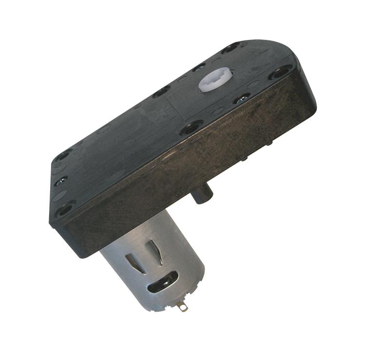 Motorreductor de corriente continua para las máquinas expendedoras. Simple acoplamiento, permite un montaje rápido del motorreductor. El motorreductor se compone de un motor DC y de una caja de PA6+30GF. Los engranajes de la reducción se realizan en resina acetálica. Unidad estándar de acoplamiento del eje cuadrado 6,5 x 6,5 mm. Par de utilización hasta 1 N • m Longitud motor: 32.6mm Reducción 410:1  PLAZO DE ENTREGA MÁXIMO: 2/3 semanas.Se confirmará a la recepción del pedido.  Los datos marcados en rojo exceden el par máximo de utilización.