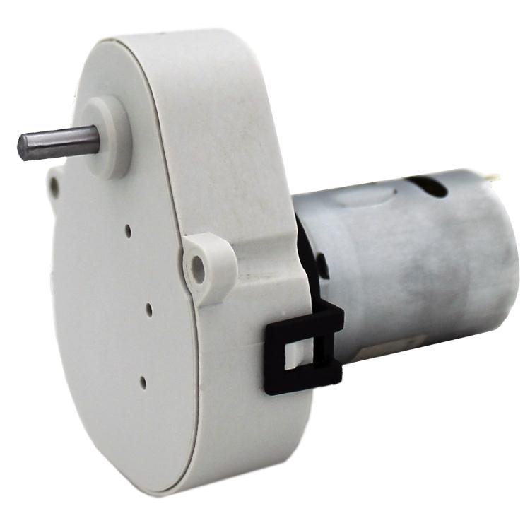 Reductor engranaje recto. Eje de salida de acero. Eje de salida: Ø4 Rodamiento a la salida: casquillo sinterizado y casquillo de plástico. Máxima carga radial a 5 mm de la brida: 10 N. Máxima carga axial admisible: 20 N. Material engranajes y eje de salida: Pom y acero. Rodadura de engranajes sobre ejes de acero templados y rectificados Caja y tapa: Poliamida + 30% G.F. Par de utilización hasta 0,5 N·m. Reducción: 2400:1 Número de etapas: 6  PLAZO DE ENTREGA MÁXIMO: 2/3 semanas.Se confirmará a la recepción del pedido.  Los datos marcados en rojo exceden el par máximo de utilización.