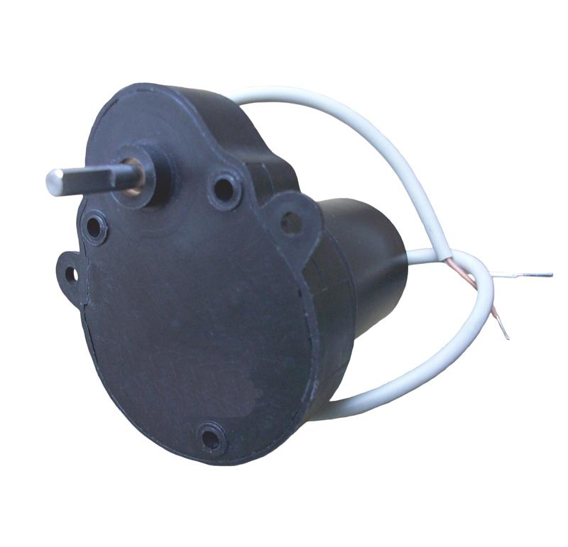 Reductor engranaje recto. Eje de salida de acero. Rodamiento a la salida: casquillo sinterizado. Máxima carga radial a 5 mm de la brida: 10 N. Máxima carga axial admisible: 20 N. Material engranajes: Pom. Rodadura de engranajes sobre ejes de acero templados y rectificados. Carcasa: Poliamida con fibra de vidrio. Par de utilización hasta 0,5 N•m. Fijación mediante 3 tornillos M4.  PLAZO DE ENTREGA MÁXIMO: 2/3 semanas.Se confirmará a la recepción del pedido.
