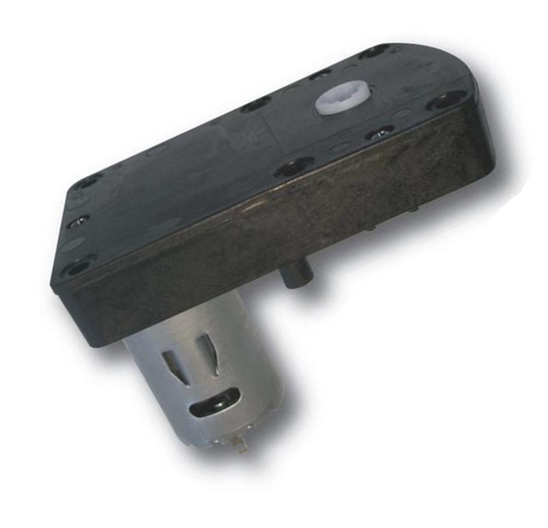 Motorreductor de corriente continua para las máquinas expendedoras. Simple acoplamiento, permite un montaje rápido del motorreductor. El motorreductor se compone de un motor DC y de una caja de PA6+30GF. Los engranajes de la reducción se realizan en resina acetálica. Unidad estándar de acoplamiento del eje cuadrado 6,5 x 6,5 mm. Par de utilización hasta 1 N • m Longitud motor: 38 mm  PLAZO DE ENTREGA MÁXIMO: 2/3 semanas.Se confirmará a la recepción del pedido.  Los datos marcados en rojo exceden el par máximo de utilización.