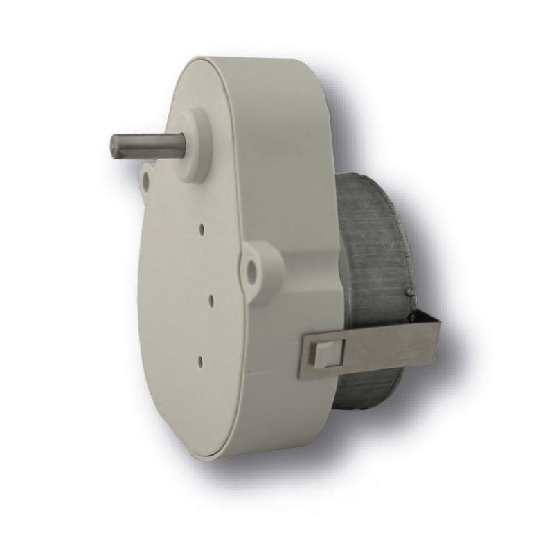 Reductor engranaje recto. Eje salida de acero Ø4mm Rodamiento a la salida: casquillo sinterizado y casquillo de plástico. Máxima carga radial a 5 mm de la brida: 10 N. Máxima carga axial admisible: 20 N. Material engranajes y eje de salida: Pom y acero. Rodadura de engranajes sobre ejes de acero templados y rectificados Caja y tapa: Poliamida + 30% G.F. Par de utilización hasta 0,5 N•m. PLAZO DE ENTREGA MÁXIMO: 2/3 semanas.Se confirmará a la recepción del pedido.