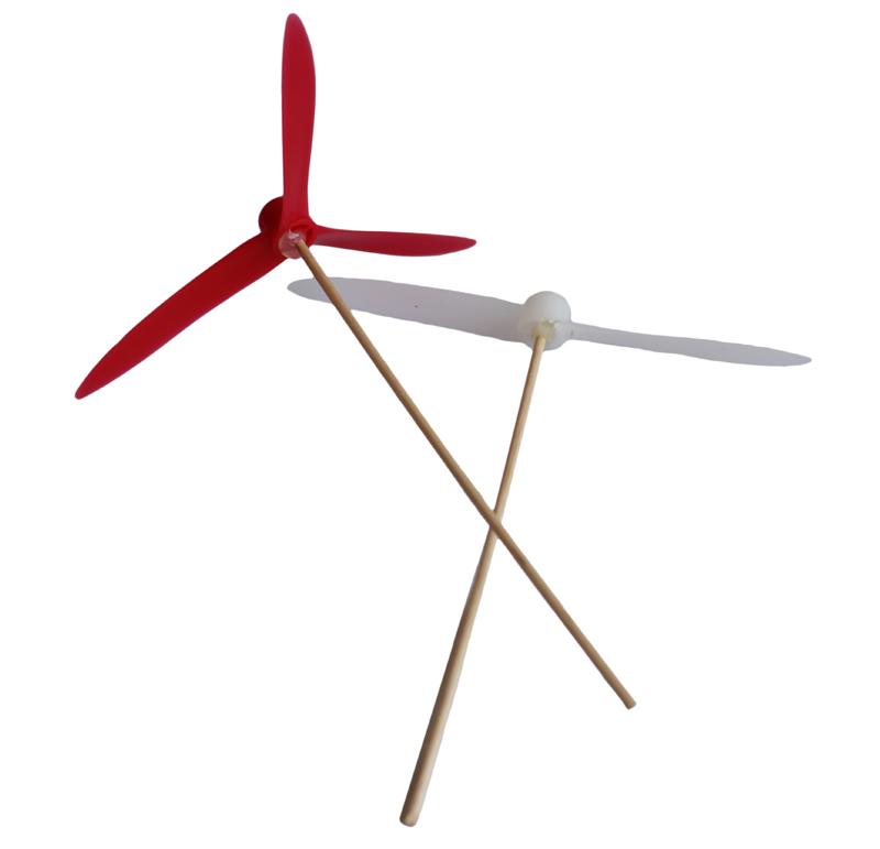 Kit para fabricar un helicóptero infantil compuesto por:  -Hélice de dos aspas -Hélice de tres aspas  Aprende paso a paso como realizarlo con este video tutorial.