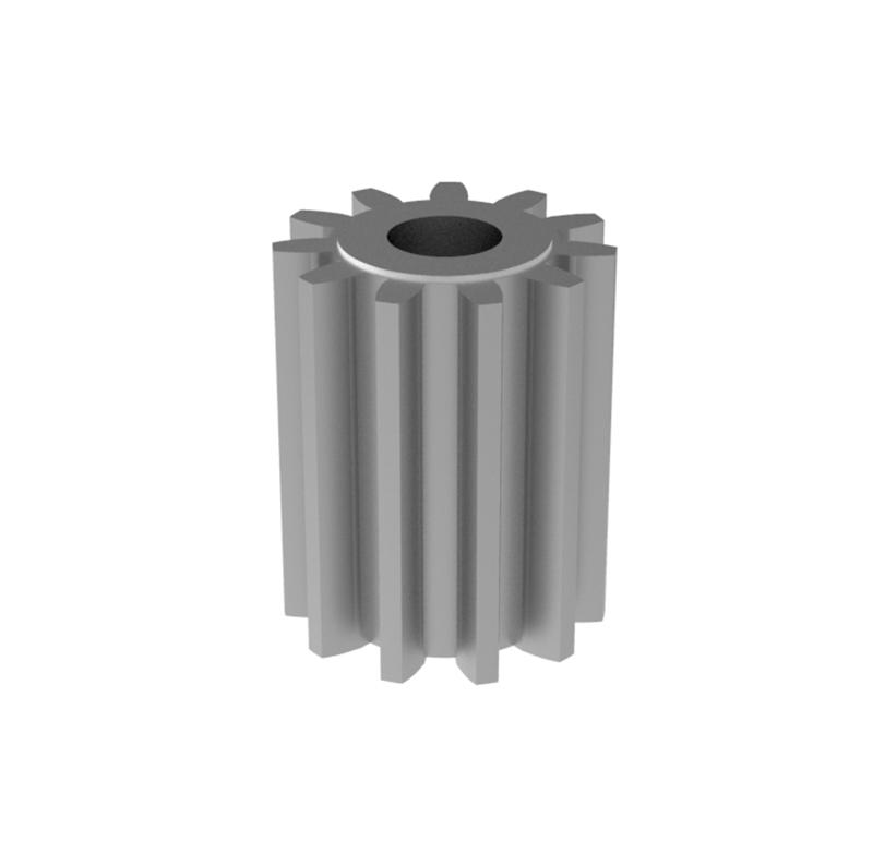 Engranaje de metal Módulo 1.75, Dientes 11Z, Forma recto
