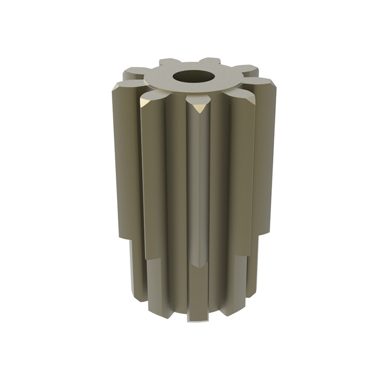 Piñón de metal Módulo 1,750, Dientes 9Z, Forma recto