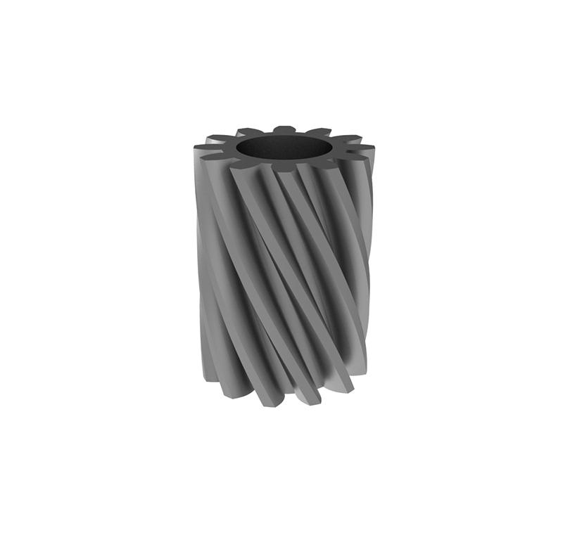 Engranaje de metal  Módulo 0.40, Dientes 12Z, Forma helicoidal