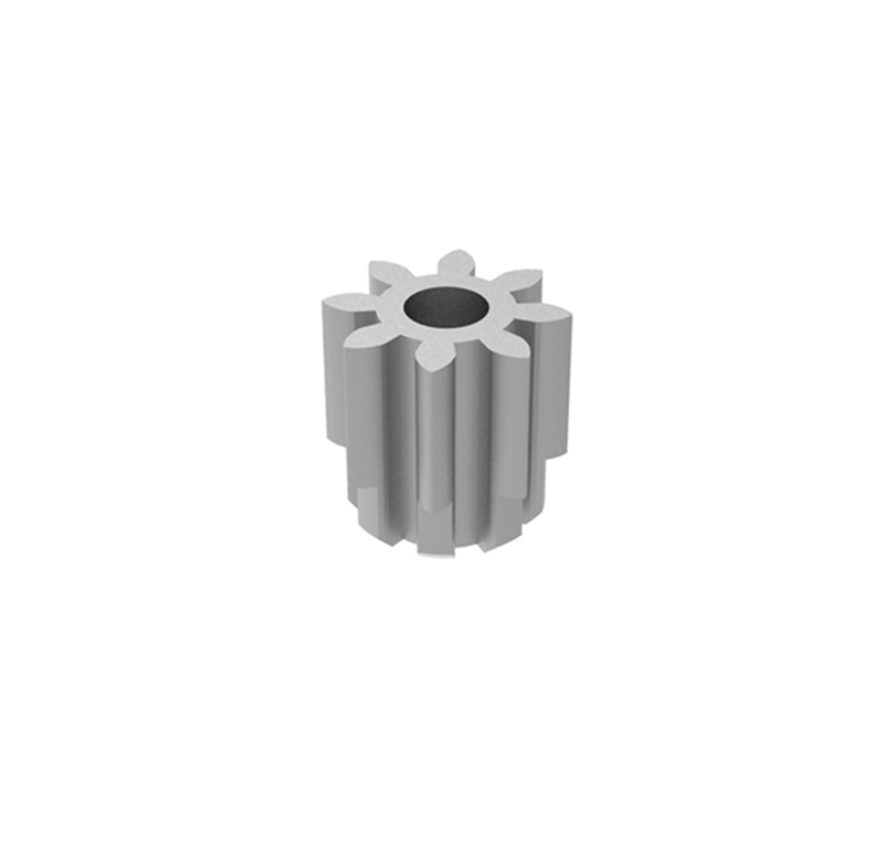 Piñón de metal Módulo 0,300, Dientes 8Z, Forma recto