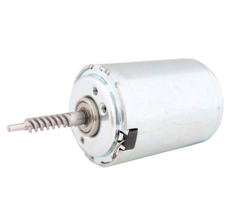 Motor Corriente DC, Voltaje 12V, R.P.M. 1250rpm  Datos del motor    -Voltaje nominal: 12 V   -Velocidad vacío: 1250 rpm   -Corriente vacío: 0,3A   -Velocidad. Max.Rend.: 1007 rpm   -Corriente Max. Rend: 1,25 A   -Par Max. Rend.: 756 g*cm   -Corriente bloqueo: 5,2 A   -Par bloqueo: 3900 g*cm  Datos del sinfín   - Z 2 módulo 1   - Diámetro externo: 7,85 mm   - Altura total: 26 mm   -Paso de hélice: 6.6786   -Ángulo β : 15º   -Sentido de hélice: derechas