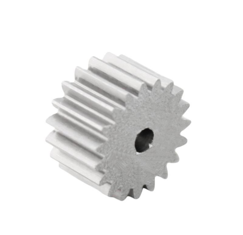Piñón de metal Módulo 0,500, Dientes 19Z, Forma recto