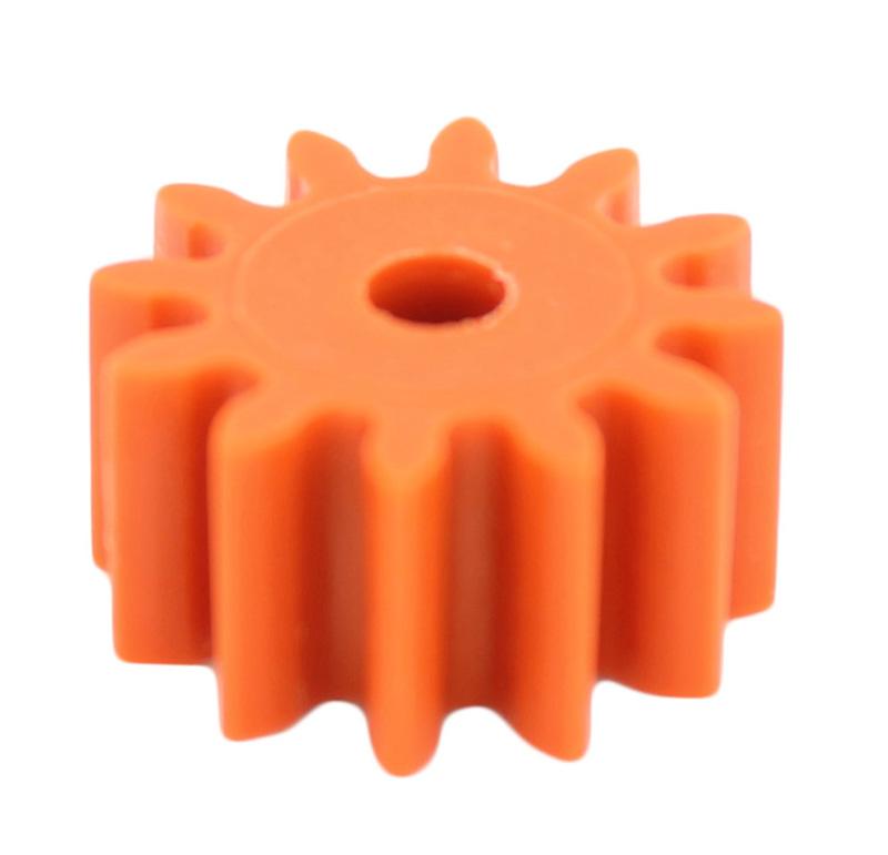 Piñón de plástico Módulo 1.000, Dientes 12Z, Forma recto
