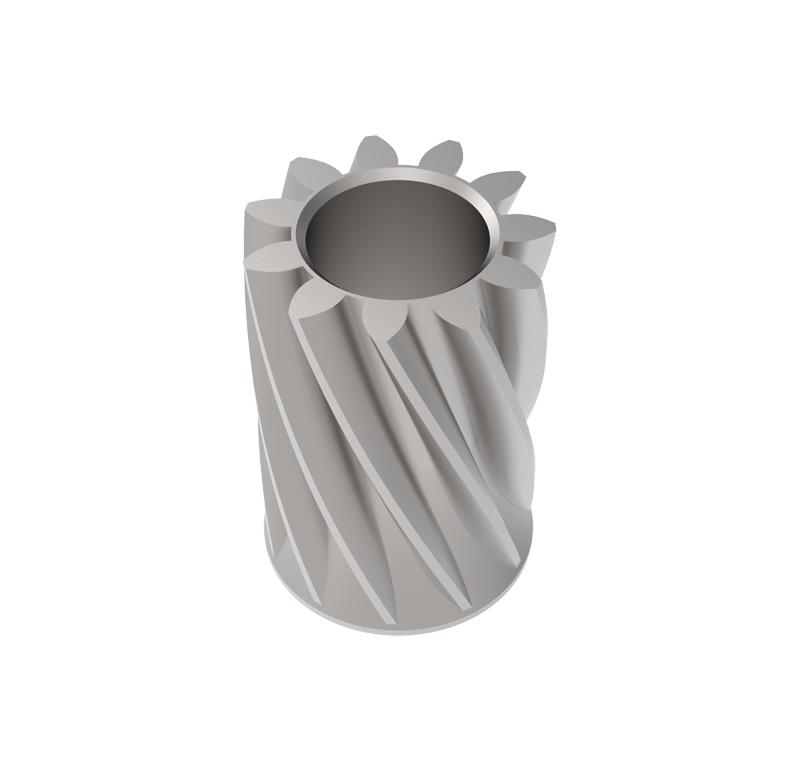 Piñón de metal Módulo 0.500, Dientes 11Z, Forma helicoidal