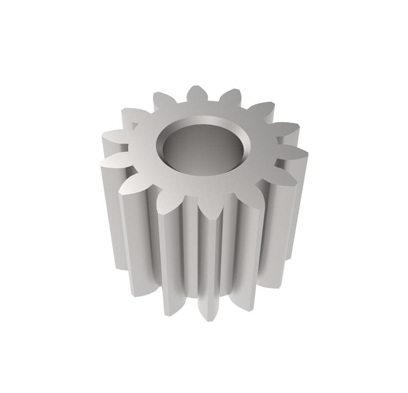 Piñón de metal Módulo 0,500, Dientes 14Z, Forma recto