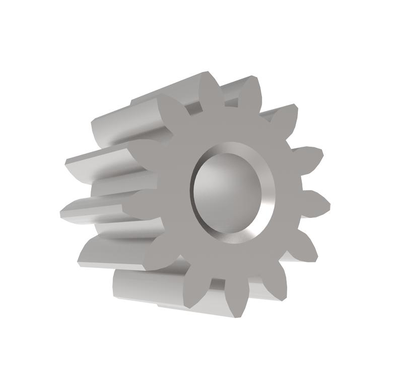 Piñón de metal Módulo 0.400, Dientes 13Z, Forma recto