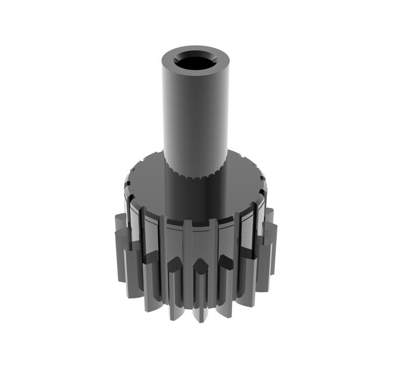 Piñón de metal Módulo 0,500, Dientes 18Z, Forma recto