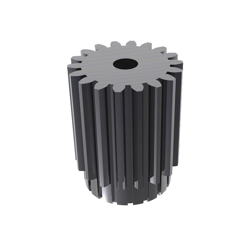 Piñón de metal Módulo 0,600, Dientes 18Z, Forma recto