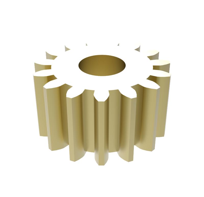 Piñón de metal Módulo 0,400, Dientes 15Z, Forma recto