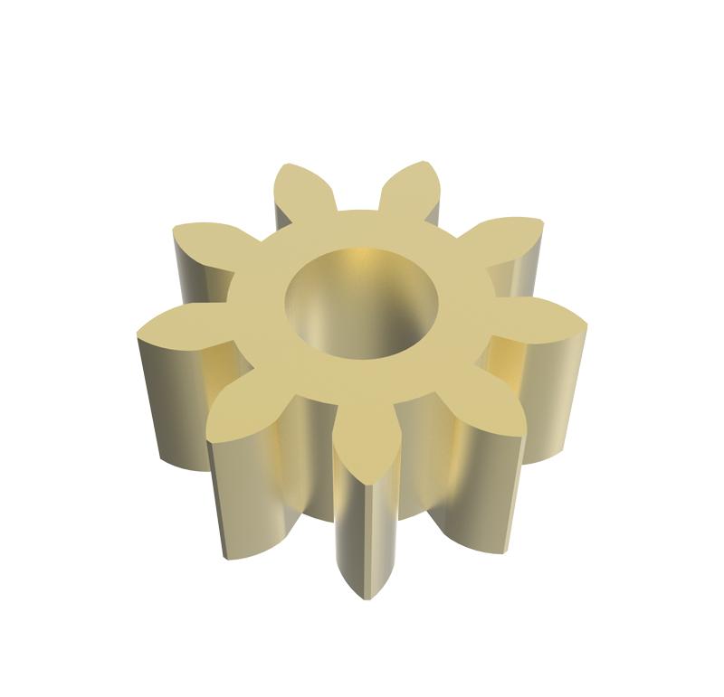 Piñón de metal Módulo 0,800, Dientes 9Z, Forma recto