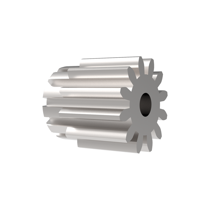 Piñón de metal Módulo 0.600, Dientes 12Z, Forma recto