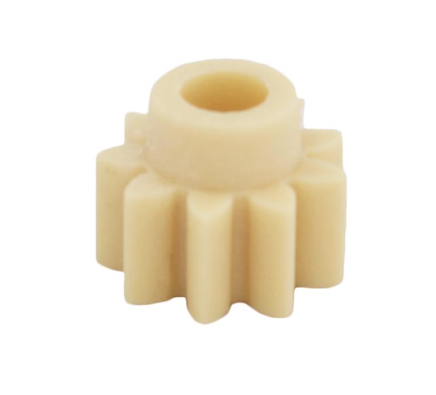 Piñón de plástico Módulo 0.750, Dientes 9Z, Forma recto