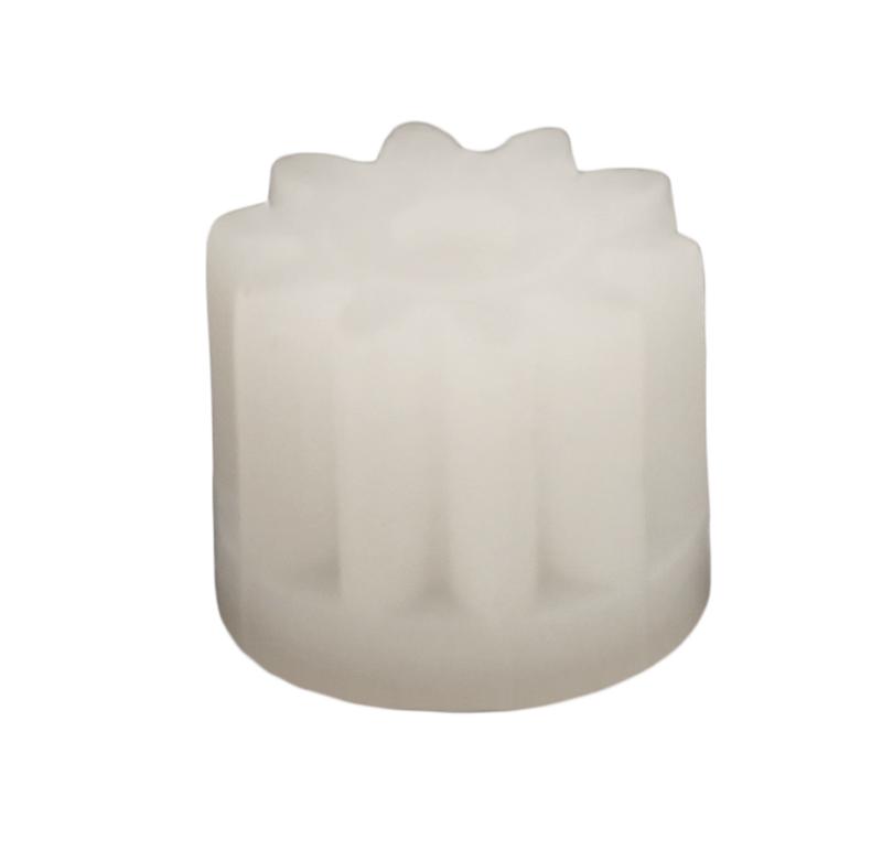 Piñón de plastico Módulo 0.600, Dientes 10Z, Forma recto