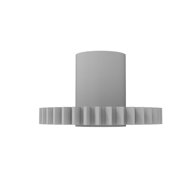Engranaje de plástico Módulo 0.500, Dientes 36Z, Forma con bulon
