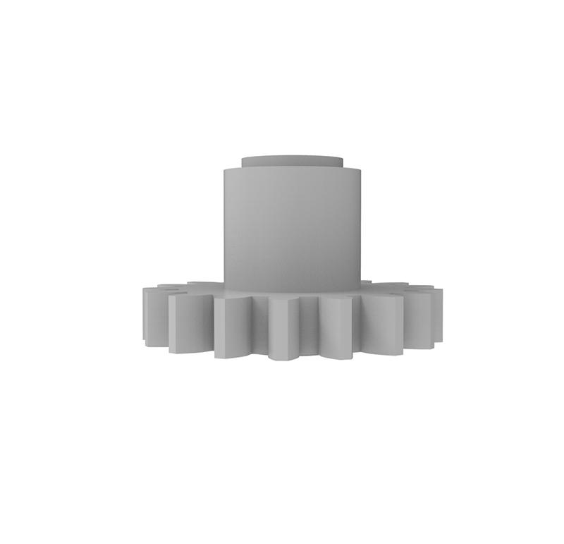 Engranaje de plástico Módulo 0.750, Dientes 17Z, Forma con bulon