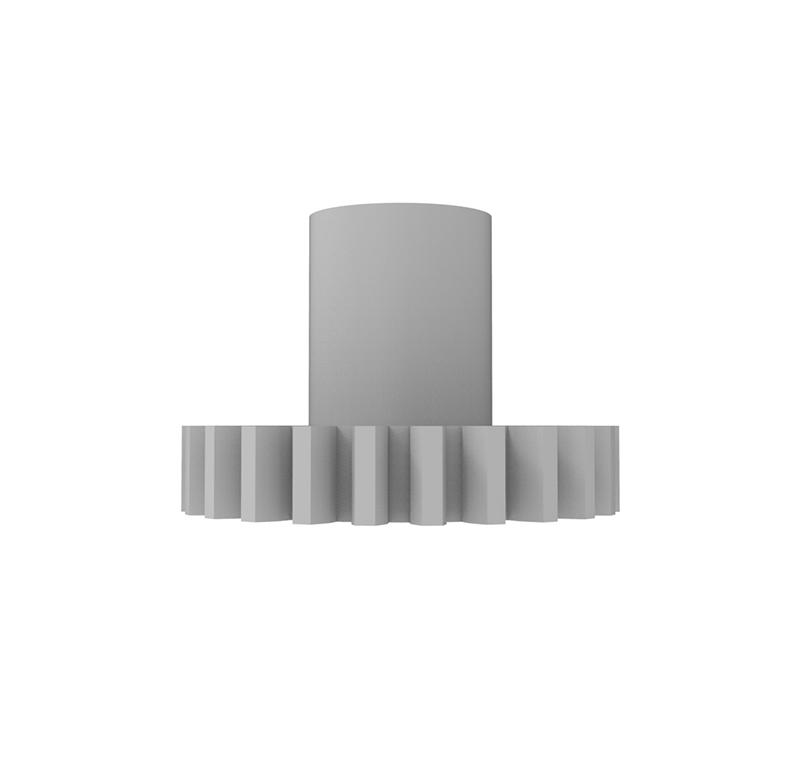 Engranaje de plástico Módulo 1.000, Dientes 24Z, Forma con bulon