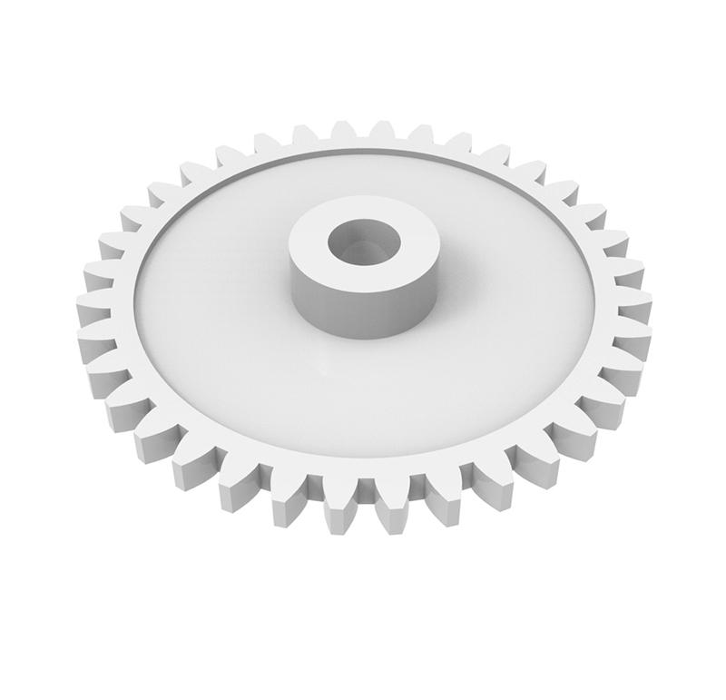 Engranaje de plástico Módulo 0.600, Dientes 36Z, Forma recto