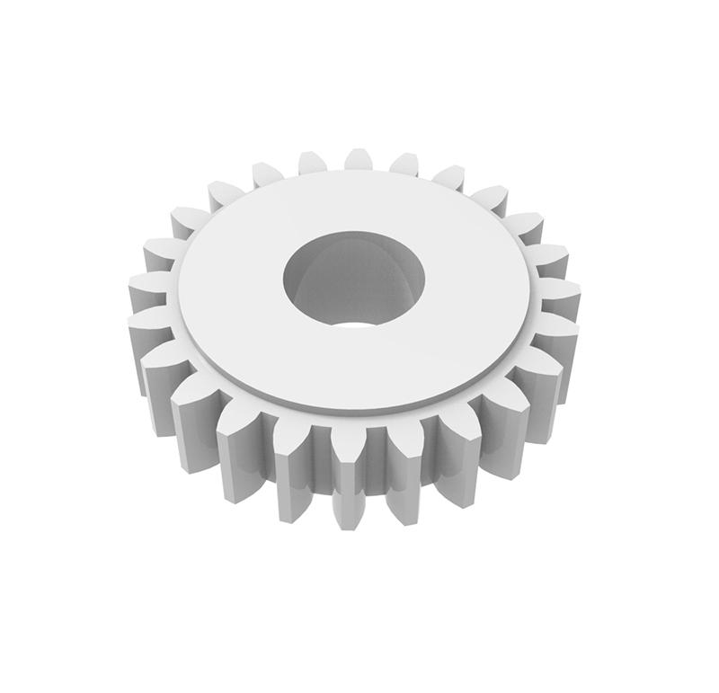 Engranaje de plástico Módulo 0.500, Dientes 18Z, Forma recto