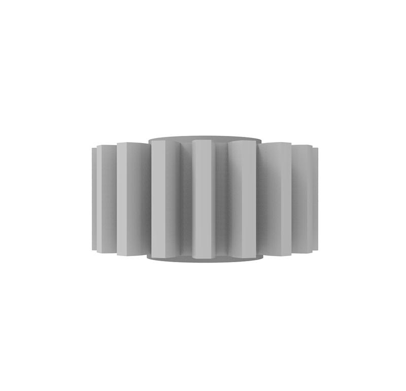 Engranaje de plástico Módulo 1.000, Dientes 18Z, Forma recto