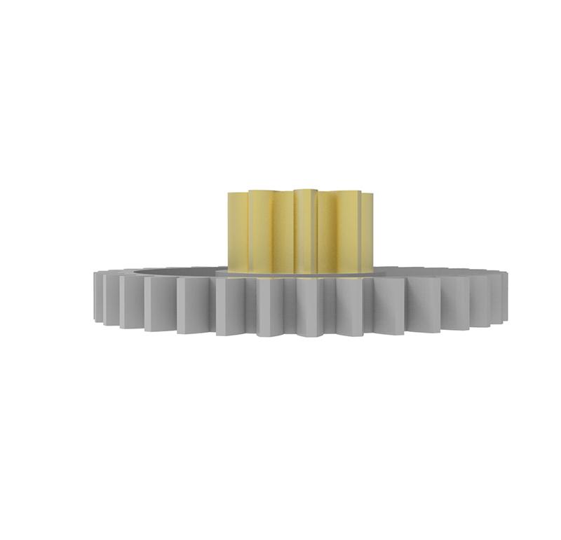 Engranaje de plástico Módulo 0.750, Dientes 35Z, Forma con piñon