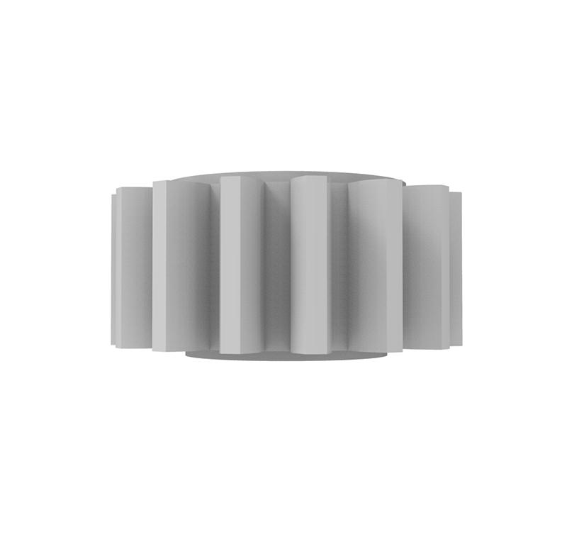 Engranaje de plástico Módulo 1.000, Dientes 15Z, Forma recto