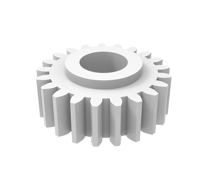 Engranaje de plástico Módulo 0.750, Dientes 21Z, Forma recto