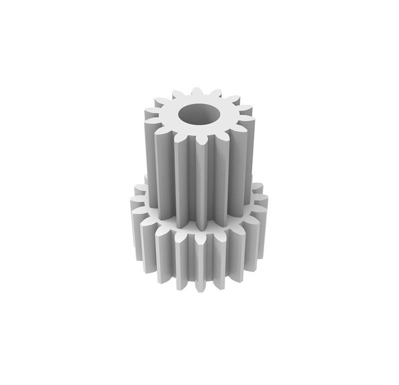 Engranaje de plástico Módulo 0.500, Dientes 20Z, Forma con piñon