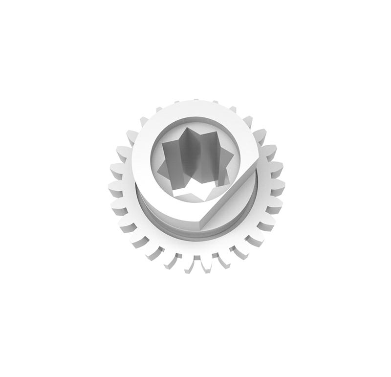 Engranaje de plástico Módulo 0.750, Dientes 27Z, Forma con bulon