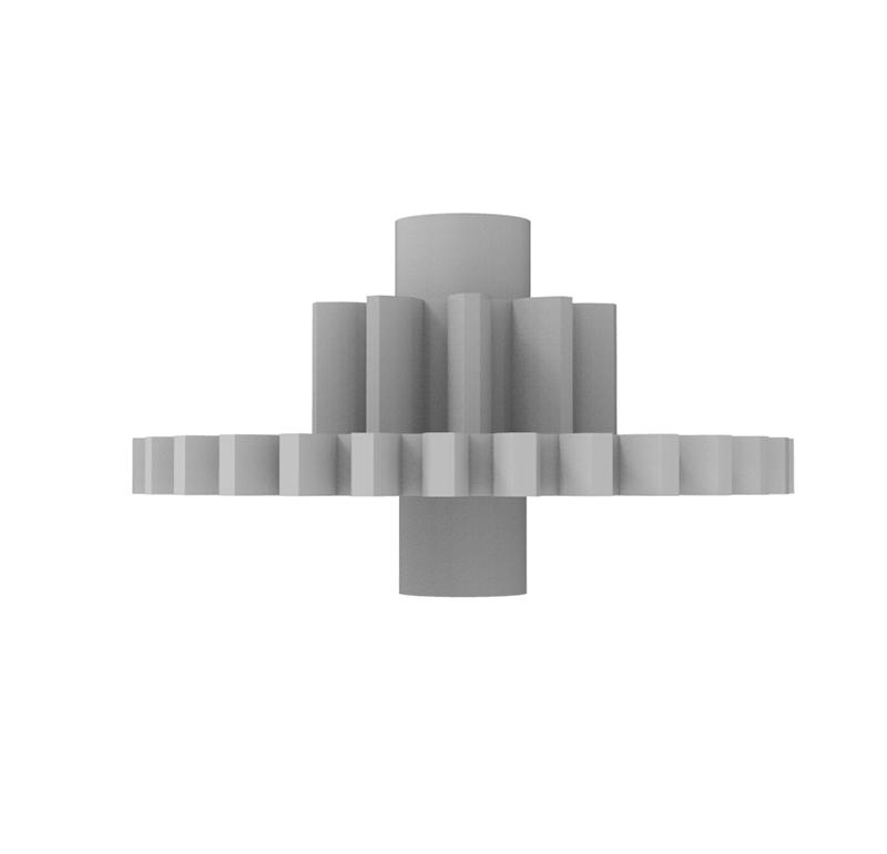Engranaje de plástico Módulo 0.600, Dientes 30Z, Forma con piñon
