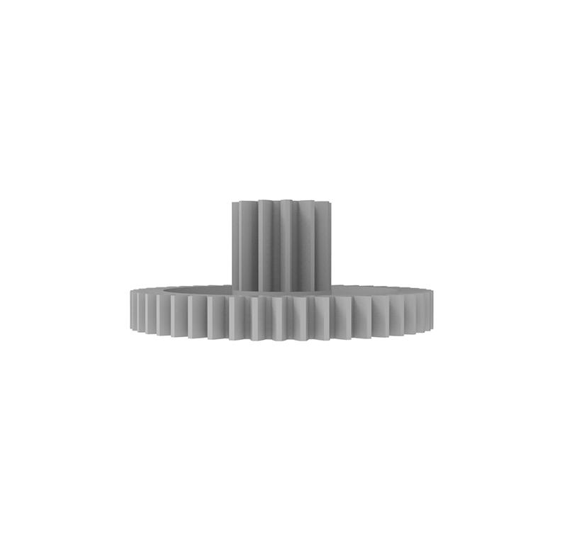 Engranaje de plástico Módulo 0.600, Dientes 47Z, Forma con piñon