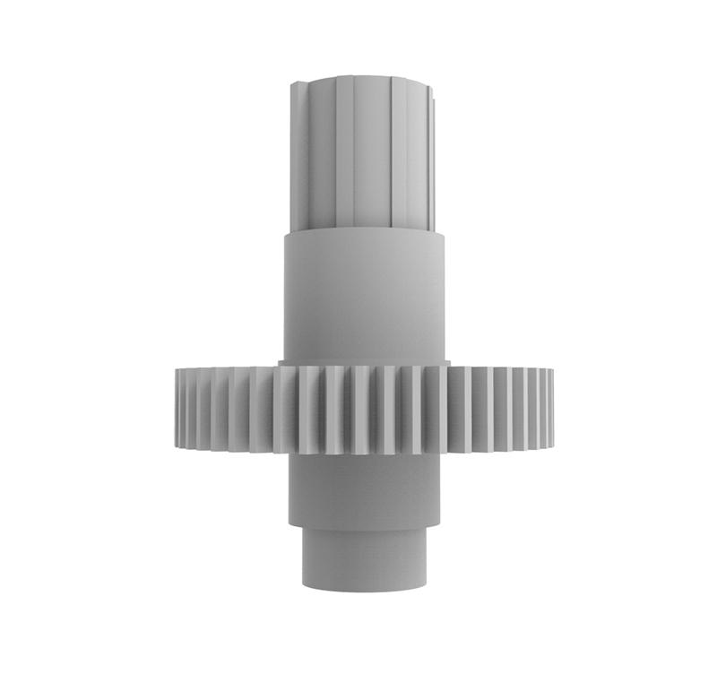 Engranaje de plástico Módulo 0.700, Dientes 48Z, Forma con bulon