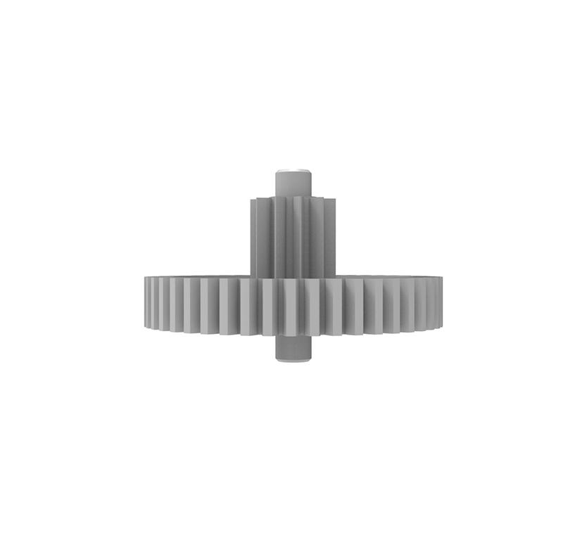 Engranaje de plástico Módulo 0.500, Dientes 47Z, Forma con piñon