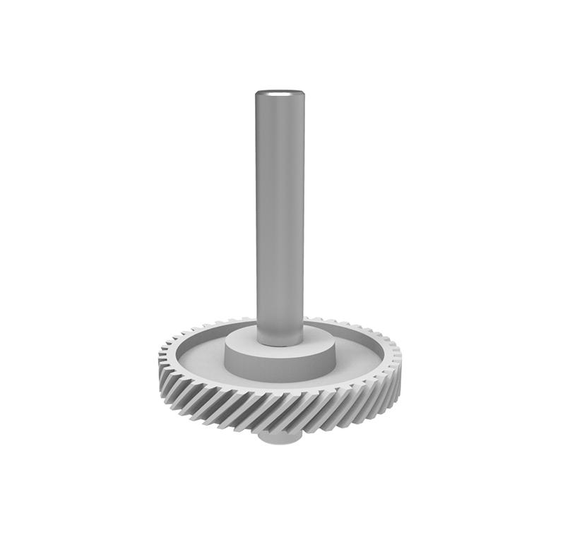 Engranaje de plástico Módulo 0.80, Dientes 45Z, Forma con sobreinyección