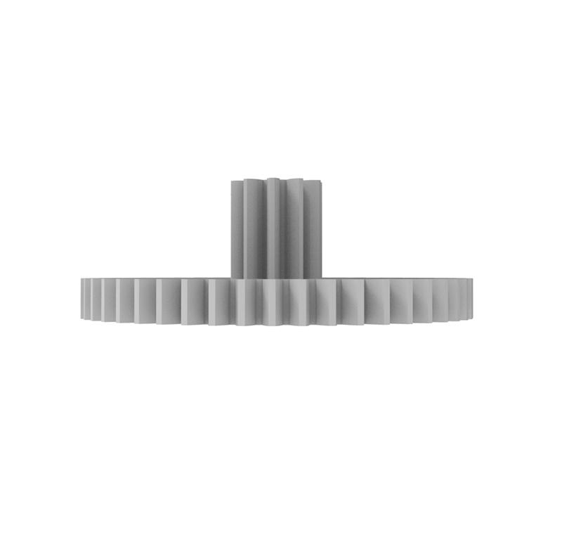 Engranaje de plástico Módulo 0.400, Dientes 48Z, Forma con piñon