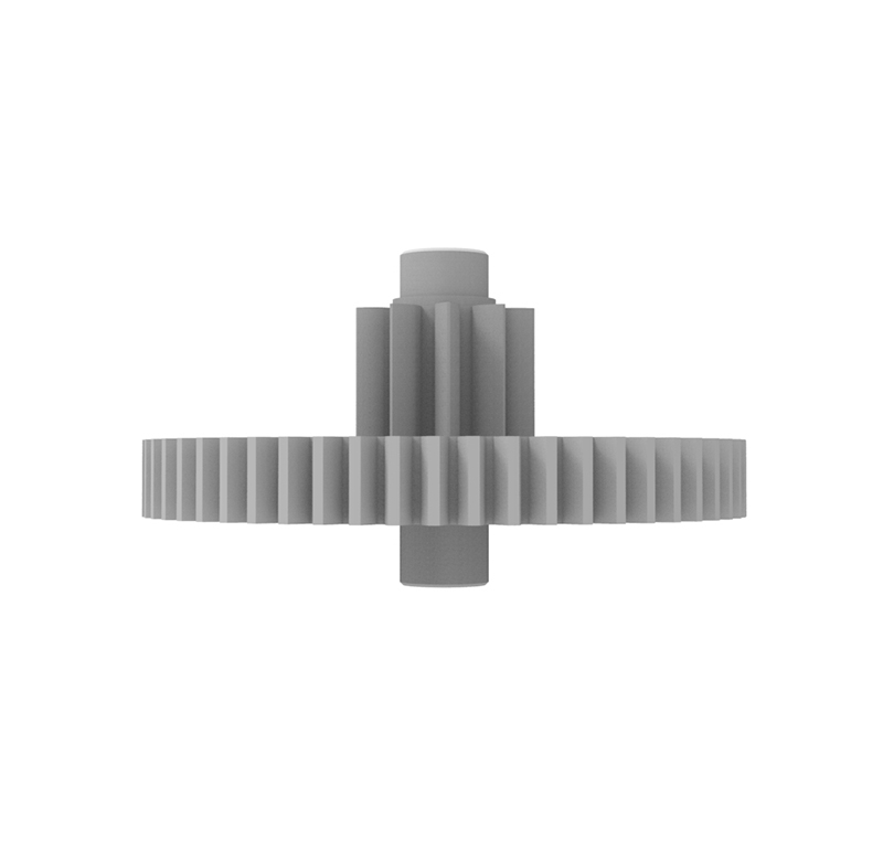 Engranaje de plástico Módulo 0.500, Dientes 56Z, Forma con piñon