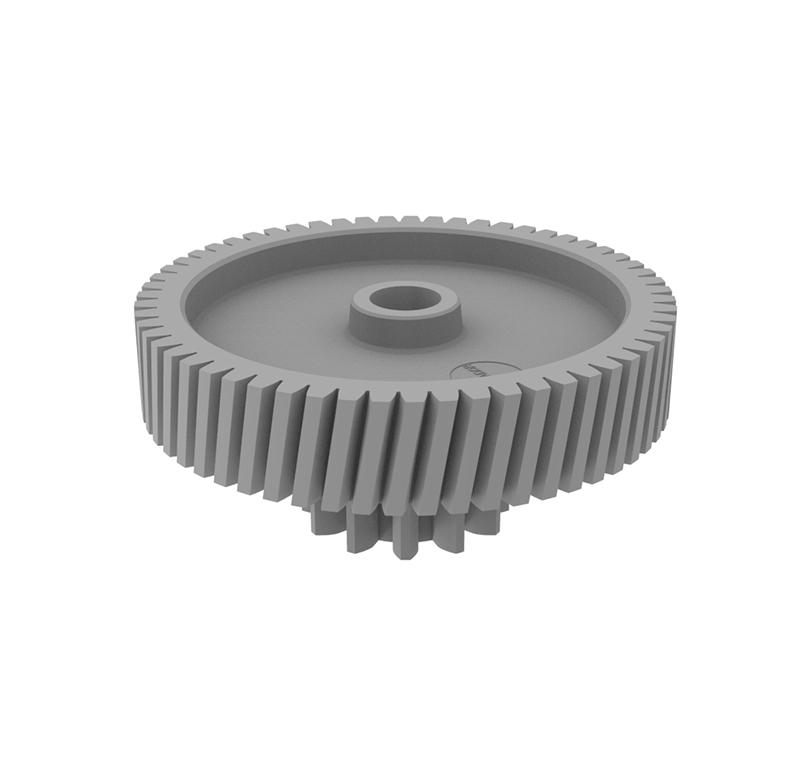 Engranaje de plástico Módulo 1.000, Dientes 59Z, Forma con piñon