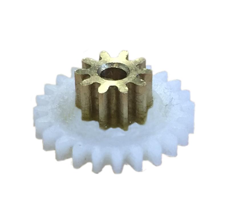 Engranaje de plástico Módulo 0.750, Dientes 24Z, Forma con sobreinyección