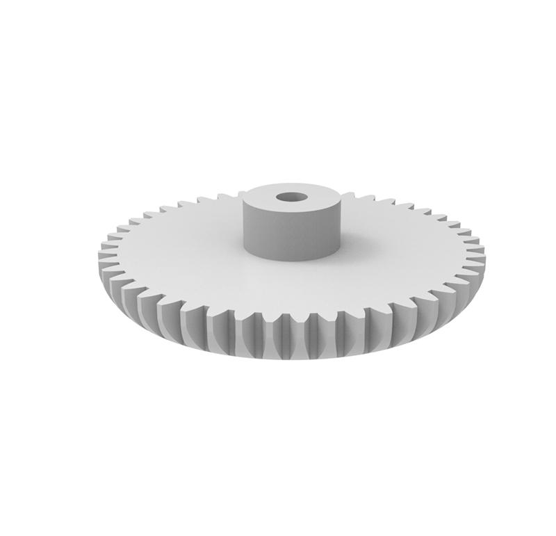 Engranaje de plástico Módulo 0.500, Dientes 46Z, Forma con bulon