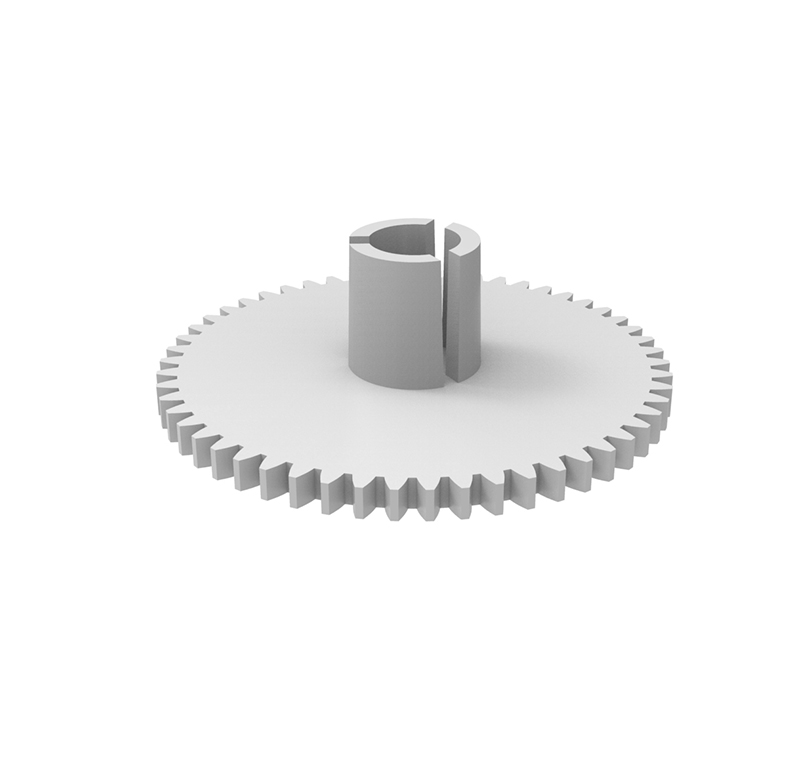 Engranaje de plástico Módulo 0.600, Dientes 54Z, Forma con bulon