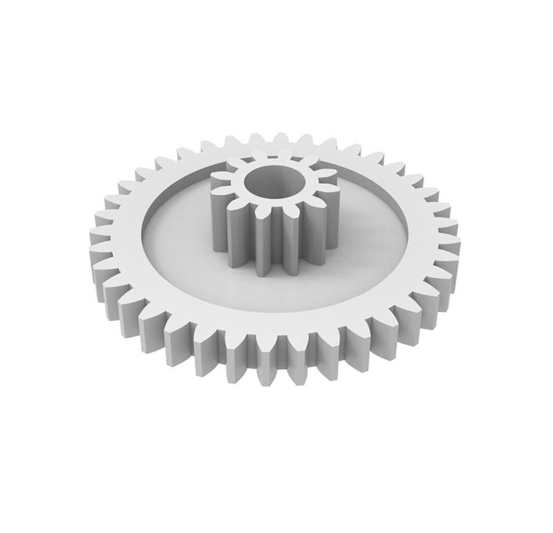 Engranaje de plástico Módulo 0.500, Dientes 38Z, Forma con piñon