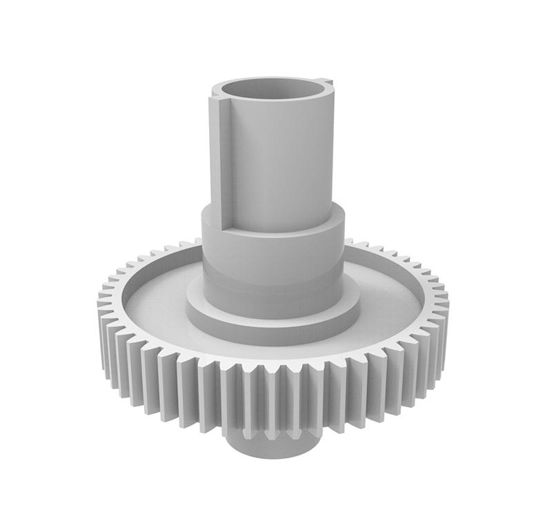 Engranaje de plástico Módulo 0.70, Dientes 53Z, Forma con bulón