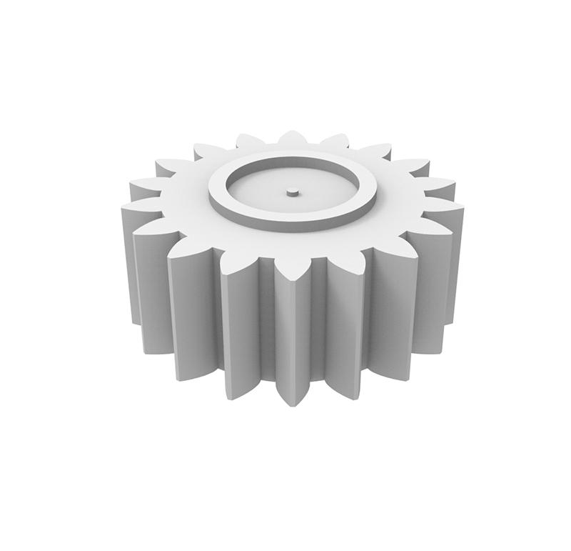 Piñón de plástico Módulo 1,000, Dientes 18Z, Forma recto