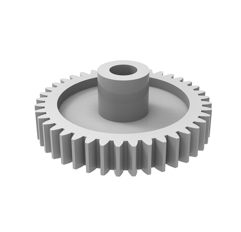 Piñón de plástico Módulo 0.500, Dientes 11Z, Forma helicoidal