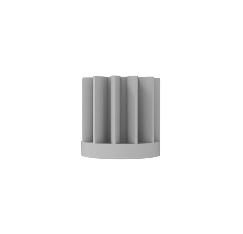 Piñón de plástico Módulo 0.400, Dientes 12Z, Forma recto